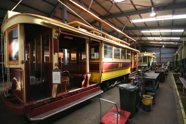 Tram 26 in the workshops