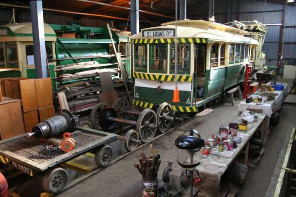 Tram 18 in the workshop