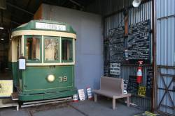 Tram 39 converted into a display area