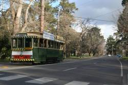 Tram 33 heads back to the depot