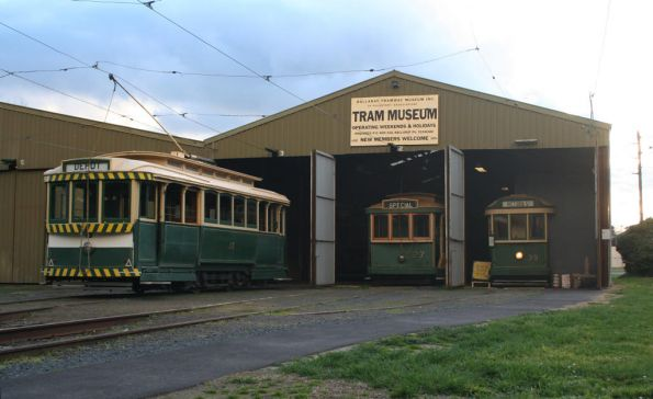Tram 13, 17 and 39 at the depot