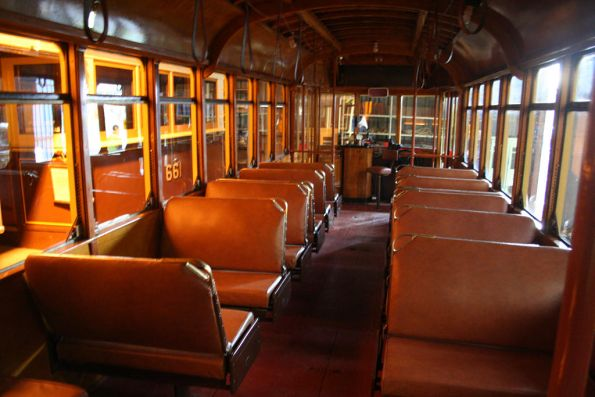 Inside of privately owned Birney tram