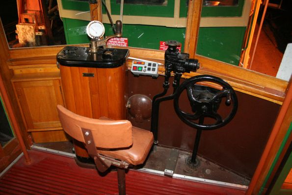 Cab of privately owned Birney tram