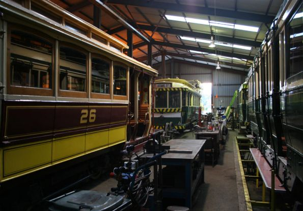 Trams 26 and 14 in the workshops