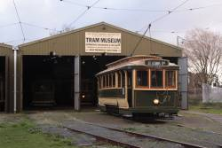 Tram 27 stabled outside the museum shed in number 2 road