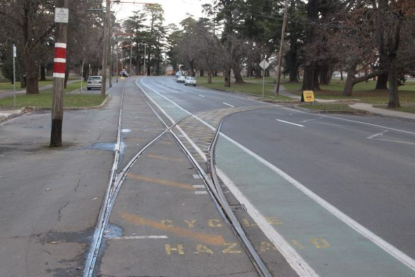 Junction with the depot track on Wendouree Parade