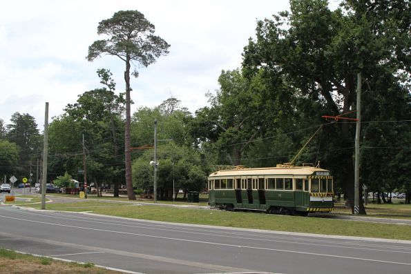 Tram 40 runs northbound on Wendouree Parade