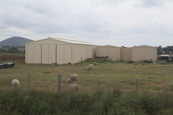 Off-site sheds belonging to the Ballarat Tramway Museum at Bungaree