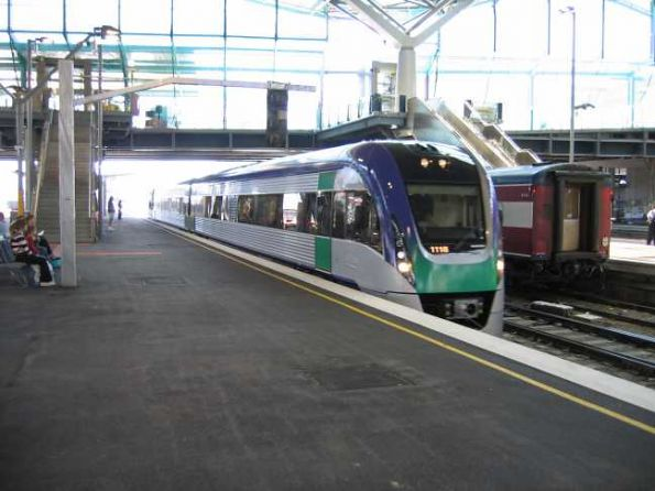 VLocity units VL18 and VL23 arriving at Southern Cross Station - first time ever