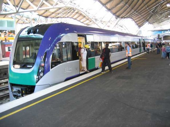 VLocity units VL18 and VL23 at Southern Cross