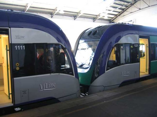VLocity VL11 and VL21 coupled up at Ballarat