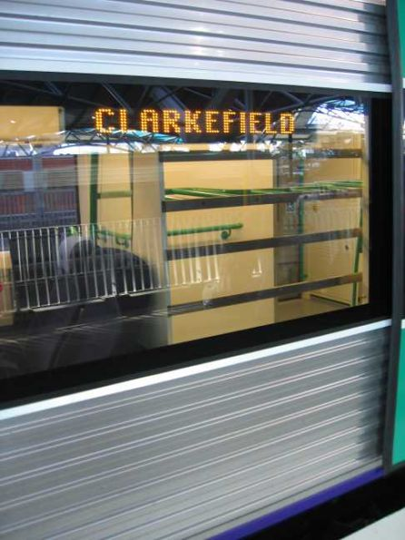 Default value on the side destination boards is 'Clarkefield'