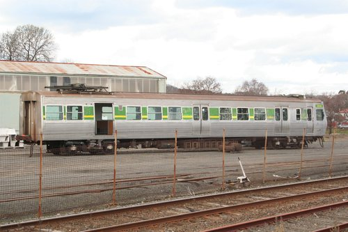 Hitachi 225M under refurbishment at Alstom Ballarat