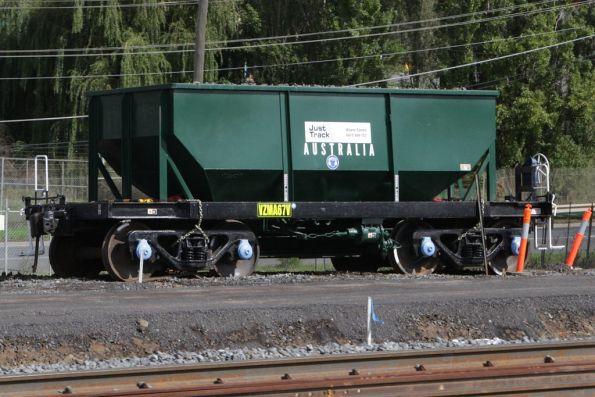 Second NN ballast hopper off rail near the RRL works in Sunshine