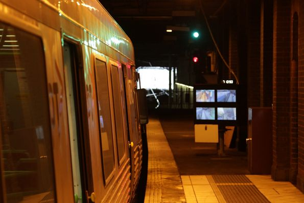LED screens retrofitted to the SPOT monitors at Flinders Street platform 8