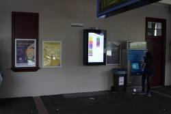 'Rainbow' network status board on the concourse at Toorak station