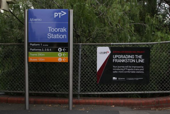 'Bayside Rail Project' propaganda at Toorak station