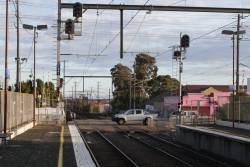 Co-acting signals added to the departure end of the platforms at Ormond station