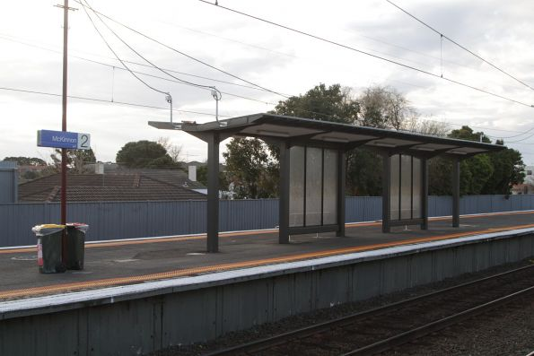 Useless platform shelters added at McKinnon station