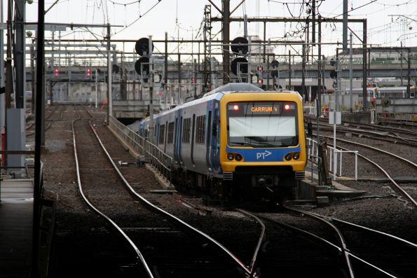 X'Trapolis 851M departs Southern Cross platform 12 with a down Carrum service