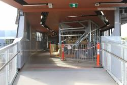 Work continuing on the concourse at the new Bayswater station