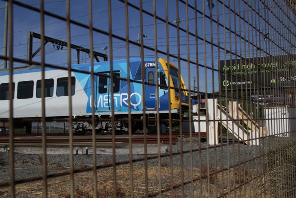 X'Trapolis 878M stabled in the sidings at the Bayswater train maintenance depot