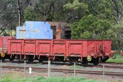 Ex-Tasmanian Railways CCC open wagon parked at Drysdale
