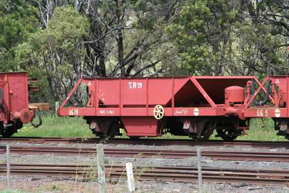 Ex-Tasmanian Railways ballast wagon QG 19 parked at Drysdale
