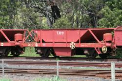 Ex-Tasmanian Railways ballast wagon QG 5 parked at Drysdale