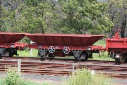 Ex-Queensland Railways ballast VTS 10623 parked at Drysdale