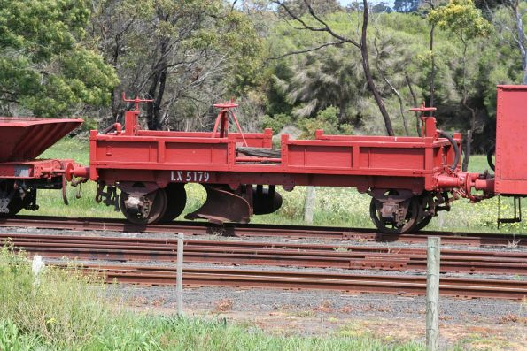 Ex-WAGR ballast plow LX 5179 parked at Drysdale