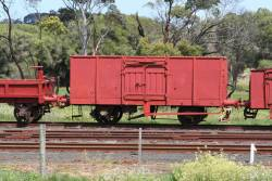 Ex-WAGR bulk wheat wagon X 7732 parked at Drysdale