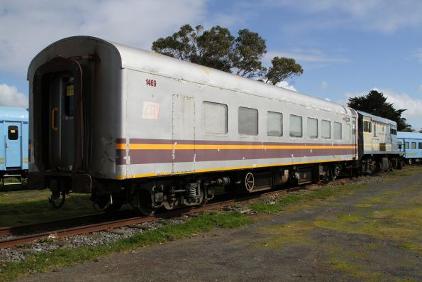 Ex-Sunlander staff carriage MSC 1469 stabled at Queenscliff