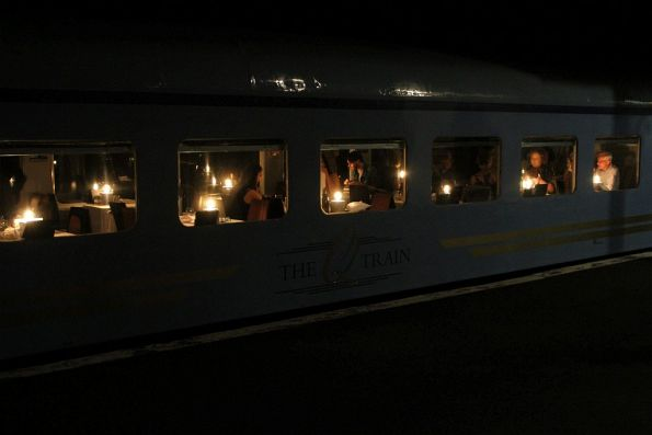 Dining car at one of end The Q Train
