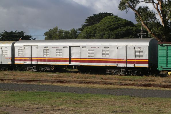 Ex-QR baggage car 1454 at Queenscliff