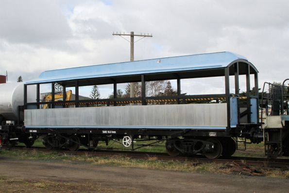 Observation carriage OXK 34689 for 'The Q Train' at Queenscliff