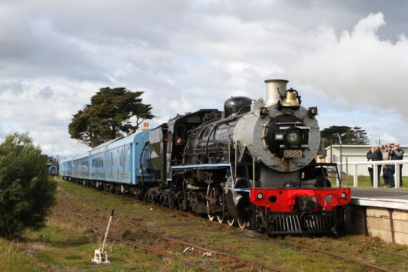 South African Railways class 24 steam engine 3620 ready to lead The Q Train out of Queenscliff