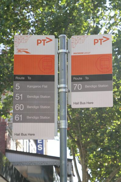 Bus stop for route 5, 51, 60, 61 and 70 along Pall Mall