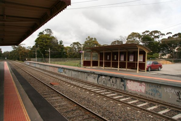 Looking across to Macedon station platform 2