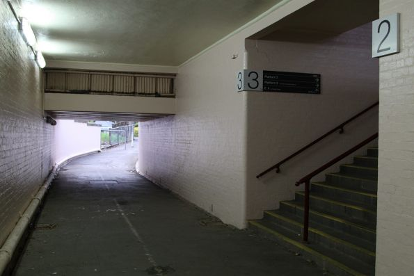 Pedestrian subway at Castlemaine station
