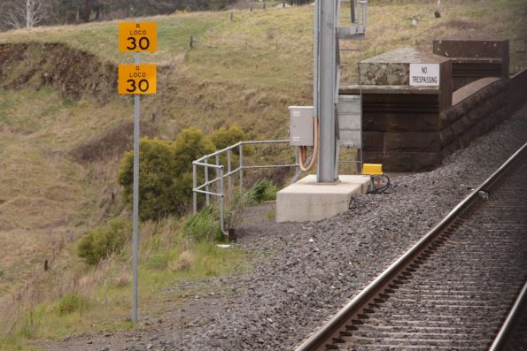 30 km/h limit for G and R class locomotives passing over the Taradale Viaduct