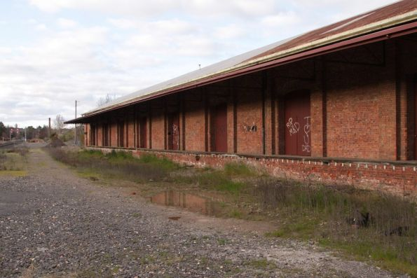 Disused goods shed at the down end of Castlemaine yard
