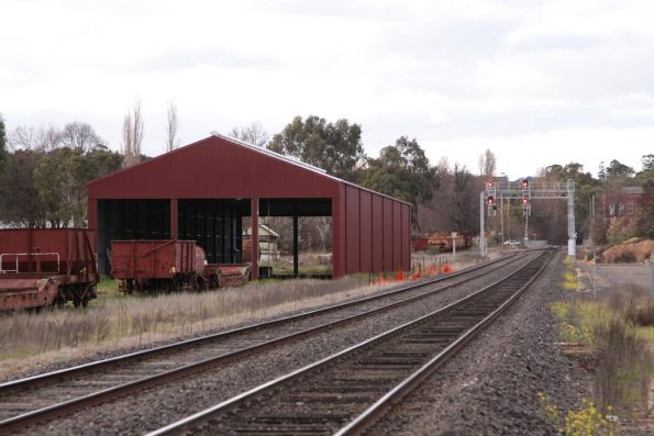 Down end of Castlemaine yard, with the new VGR shed to the left
