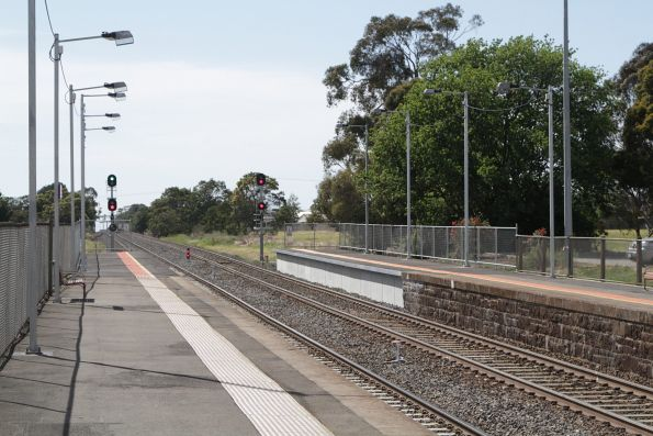Platform extensions at the up end of Gisborne station