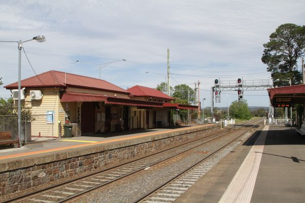 Station buildings on platform 2 at Gisborne
