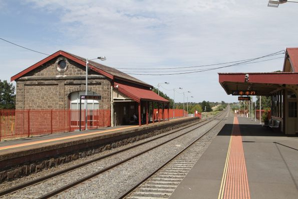 Goods shed refitted as a waiting room and booking office on platform 2 at Riddells Creek