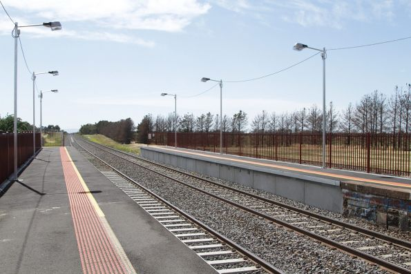 Platform extensions at the up end of Riddells Creek