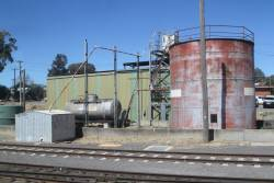 Locomotive fuel point at the up end of Bendigo station