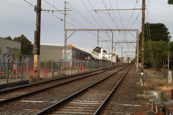 Preparation works underway on the north side of the tracks at Blackburn Road