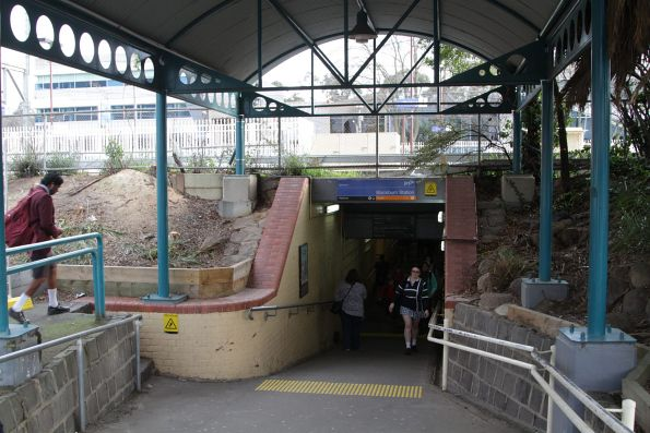 Southern entrance to the Blackburn station subway